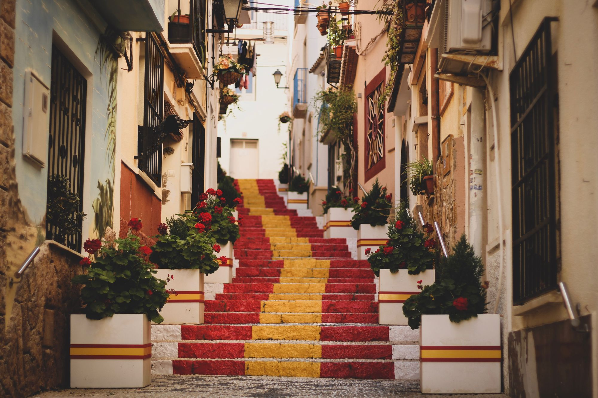 Stairs in Old Town, Calpe